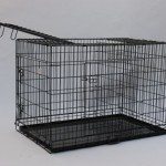 Best-Pet-Black-49-Triple-door-Suitcase-Style-Folding-Dog-Crate-with-Free-Pan-49l-X-29w-X-32h-0